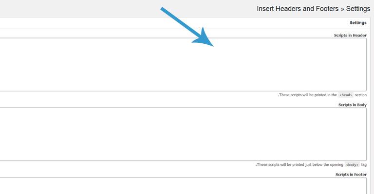 إضافة رمز HTML الاخاص ب Google Search Console في ترويسة الموقع